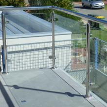 Canada glass railing post system outdoor
