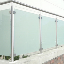 Best selling stainless steel balsuter frosted glass balcony railing