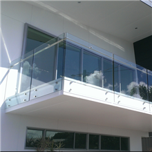 Balcony Stainless Steel Hand Rail Design For Standoff Glass Railing