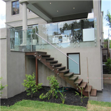 stainless steel standoff tempered glass balcony railing stair railing