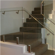 Glass Staircase Handrail With Stainless Steel Spigot Glass Railing