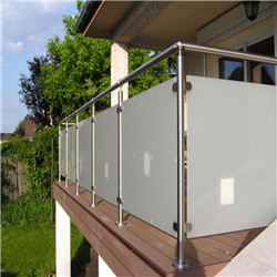 Stainless Steel Tubular Balcony Railing Design Glass With Modern Post