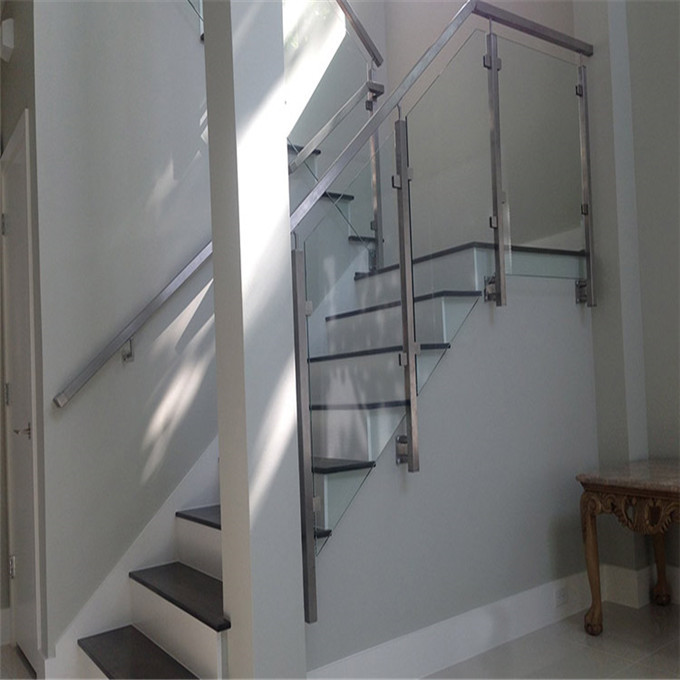 Best Price Side Mount Post Glass Railing For Stairs
