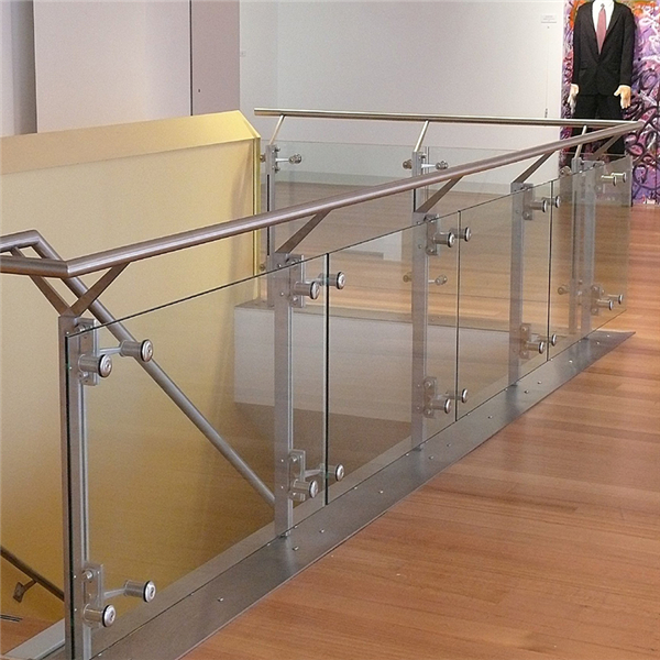 New design stair baluster railing stainless steel glass ...