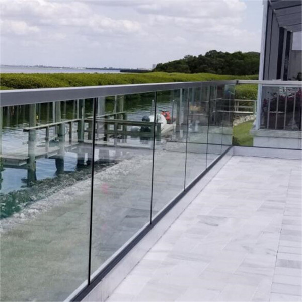 Hot Selling Aluminum U Base Channel Glass Balustrade Systems For
