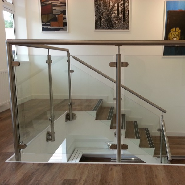 304 316 Stainless Steel Post Tempered Glass Balcony ...