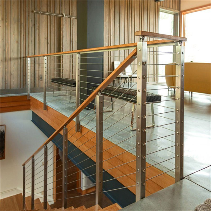Wooden Handrail Design For Indoor Wood Staircase Stainless