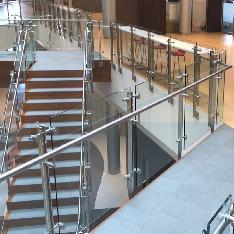Interior Glass Stair Stainless Steel Balustrade Designs